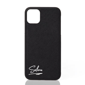 Custom Text Selena Font Leather Case