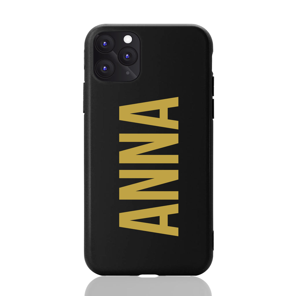 Anna Font Matte Black iPhone Case