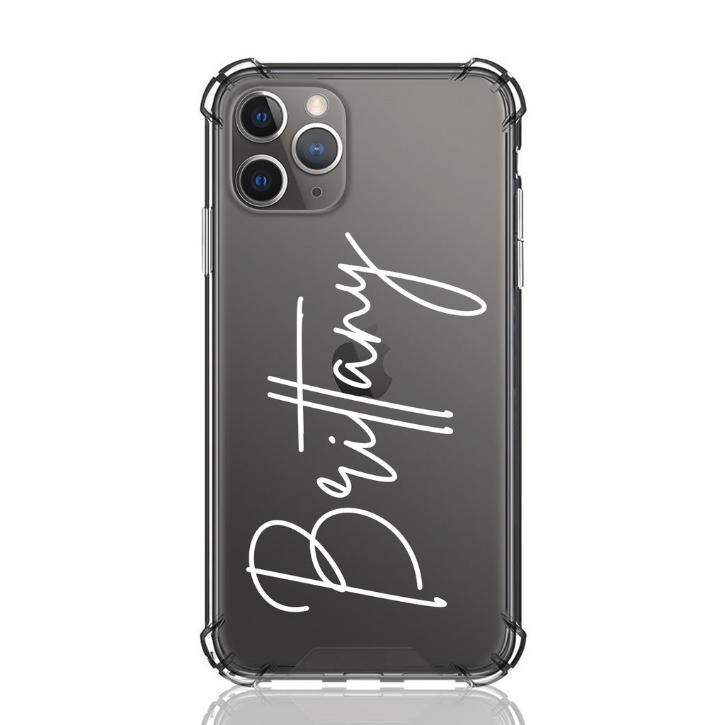 Custom Brittany Font Anti Impact Clear Case