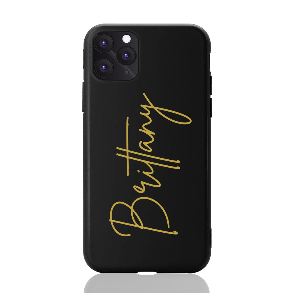 Brittany Font Matte Black iPhone Case
