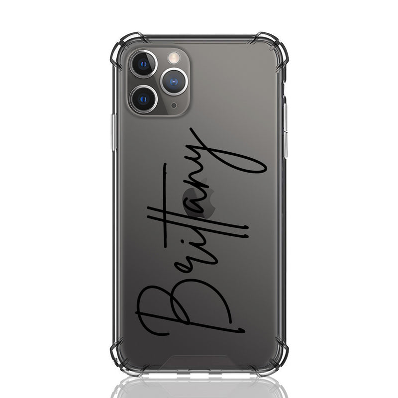 Brittany Font Clear iPhone Case