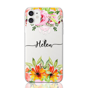 Helen Font Flower iPhone Case