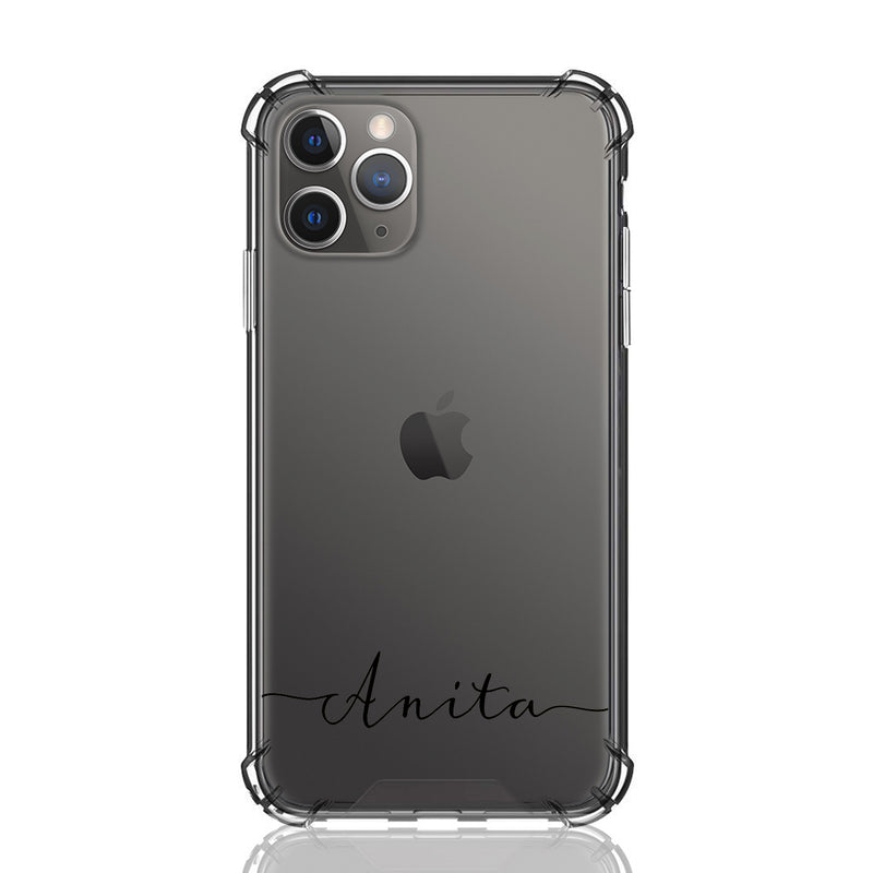 Custom Text Anita Font Clear Case