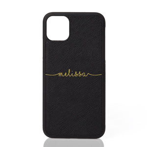 Melissa Font Leather iPhone Case