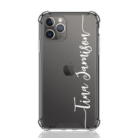 Tina Font Clear iPhone Case
