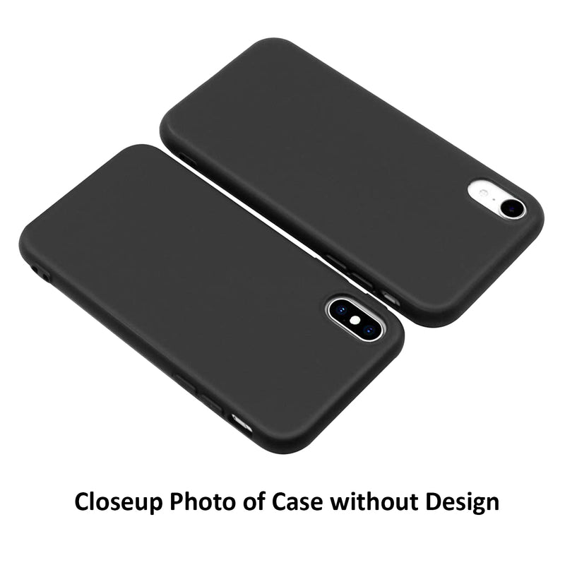 Melissa Font Matte Black iPhone Case
