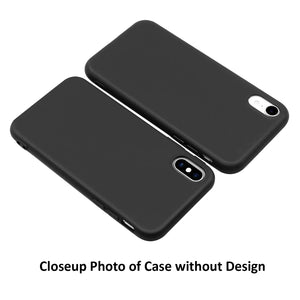 Victoria Font Matte Black iPhone Case