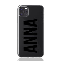 Anna Font iPhone Clear Case