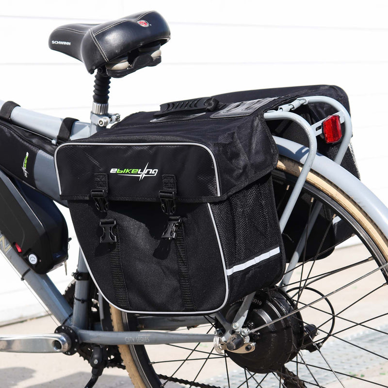 Double Rear Bicycle Pannier  Bag with Reflective Strips Ebikeling Store