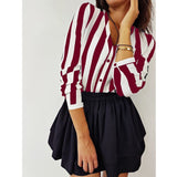 Casual Striped Top Shirts