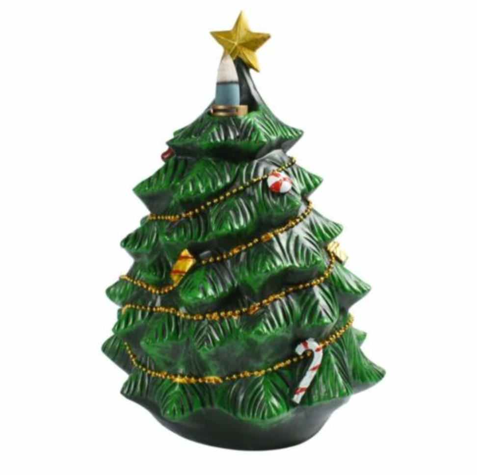 Santa Christmas Tree Backflow Incense Burner