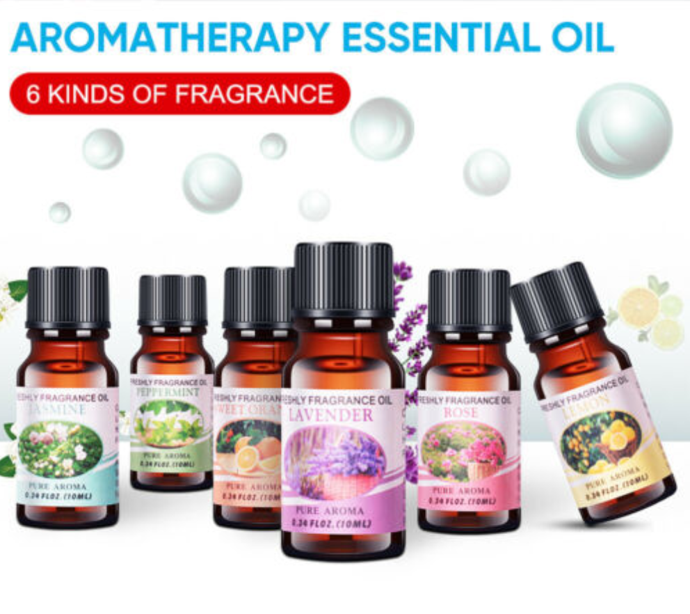 6 or 12 Pure & Natural Essential Oil Set
