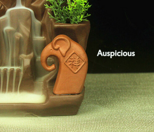 EXPRESS SHIPPING - Newcastle Stock - Auspicious Elephant Backflow Incense Burner