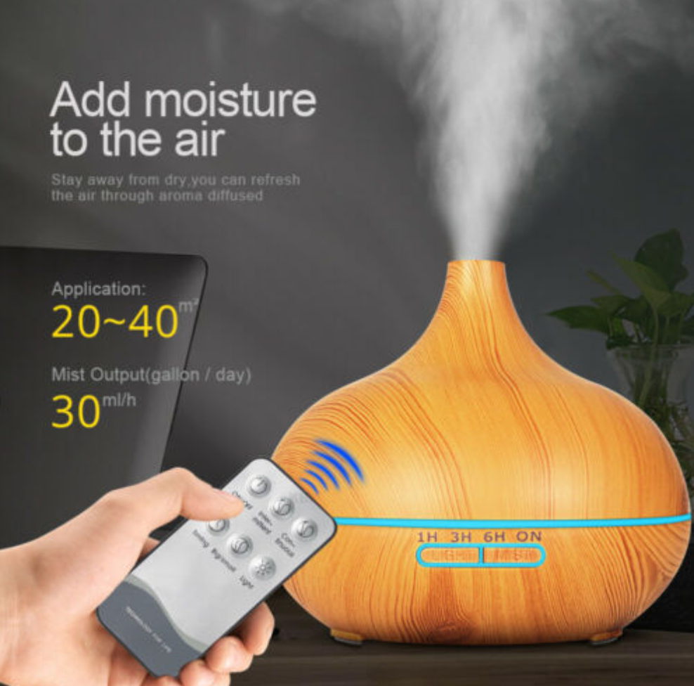 Low Ultrasonic Aromatherapy Diffuser Electric Air Humidifier 550 ml