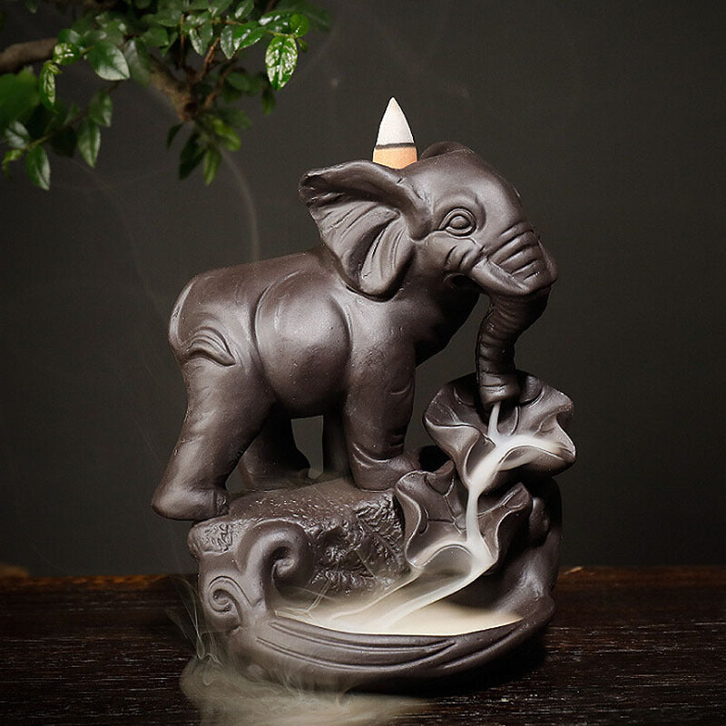 Retro Elephant Backflow Incense Burner