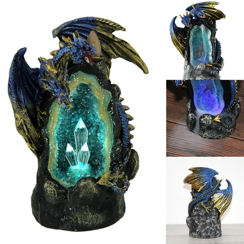 Led Master Dragon BackFlow Incense Burner