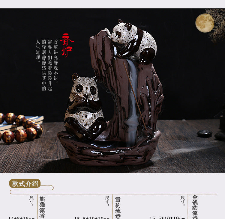 Panda Backflow Incense Burner plus Free 50 cones - Shanghai Stock