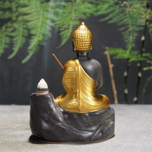EXPRESS POST - Newcastle Stock -  Maitreya Buddha Ceramic Backflow Incense Burner
