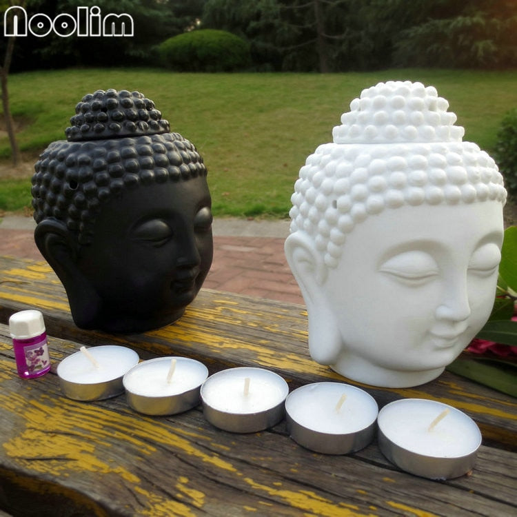 Buddha Head Oil Burner Candle light
