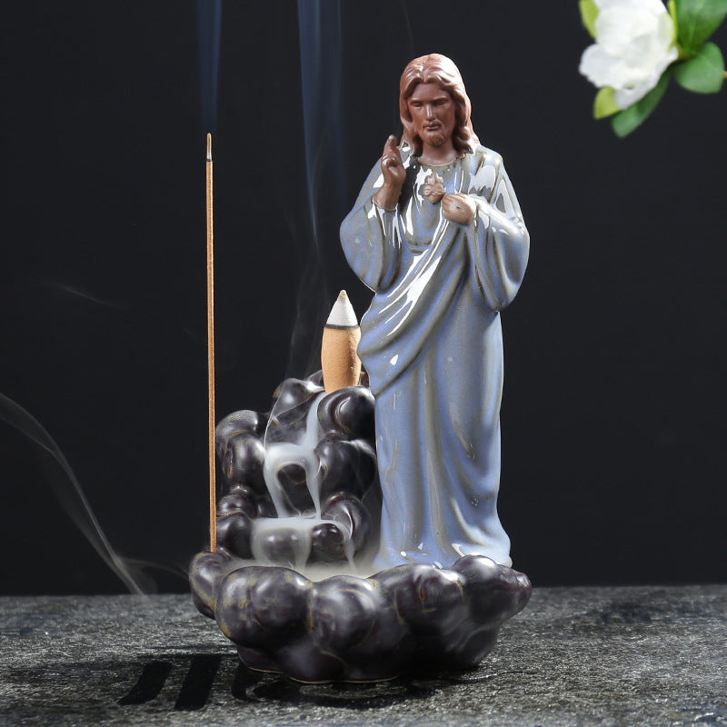 Jesus Christ Statue Backflow Incense Burner - Shanghai Stock