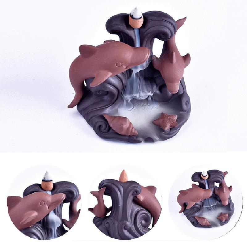 EXPRESS POST Newcastle Stock -  Dolphin Backflow Incense Burner