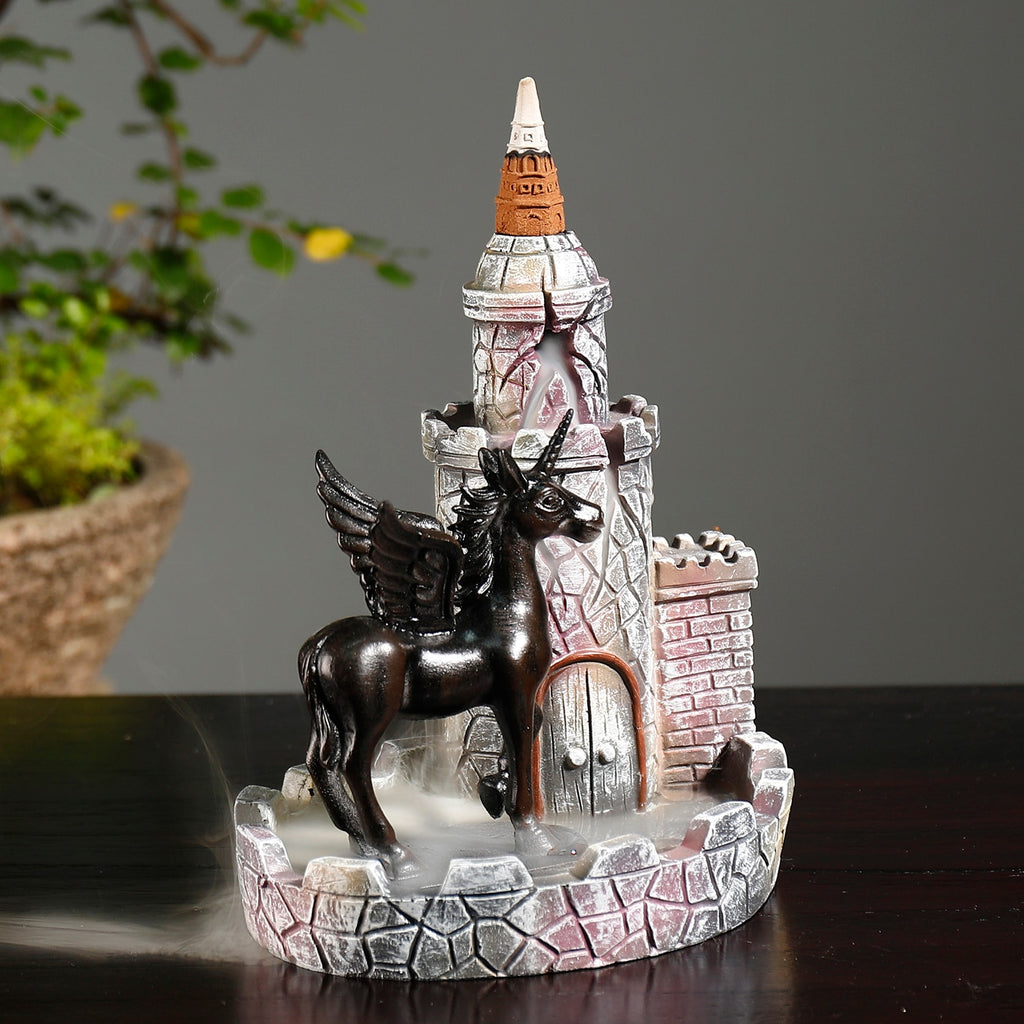 Castle Unicorn Backflow Incense Burner - Shanghai Stock