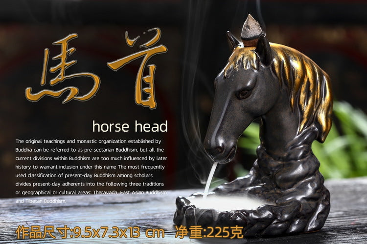 Horse Backflow Incense Burner