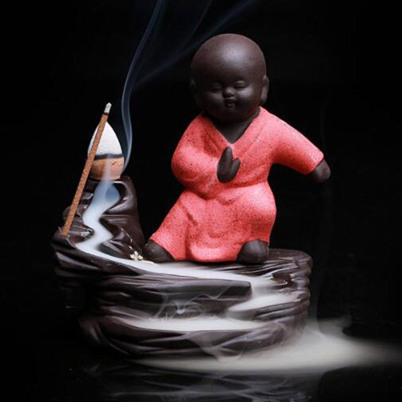 Little Monk Stick and Backflow Incense Burner - Shanghai Stock