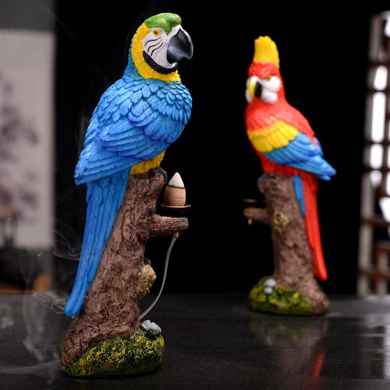 Resin Parrot Backflow Incense Burner - Shanghai Stock