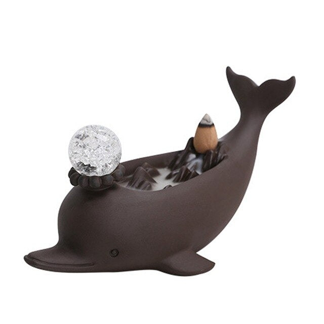 Dolphin LED Backflow Incense Burner - Shanghai Stock