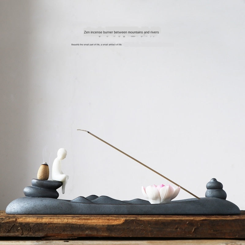 Lotus Leaf Backflow Incense Burner - Shanghai Stock