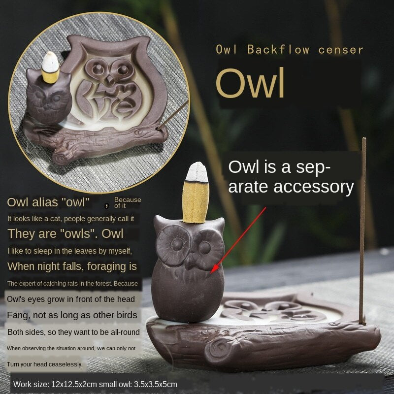 Zen Owl Backflow Incense Burner - Shanghai Stock