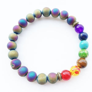 Colorrful Chakra Energy Natural Stone Bracelet