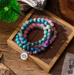 Mala Natural Stone Necklace Bracelet