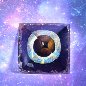 Orgone Pyramid Tiger Eye - Handmade