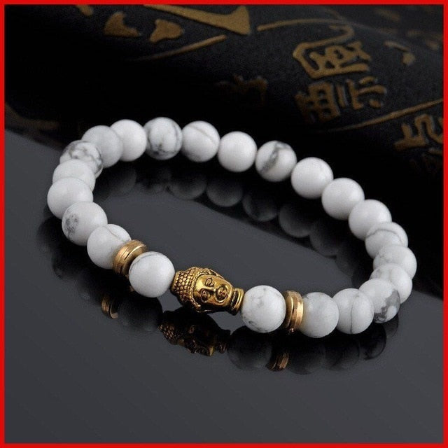 Buddha Prayer Natural Stone Bracelet