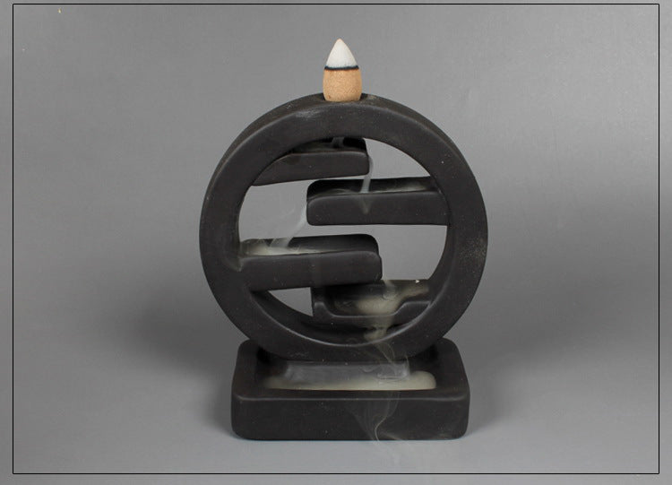 Wheel Lock Backflow Incense Burner