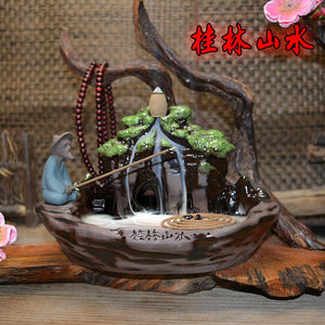 Fishing Backflow Incense Burner