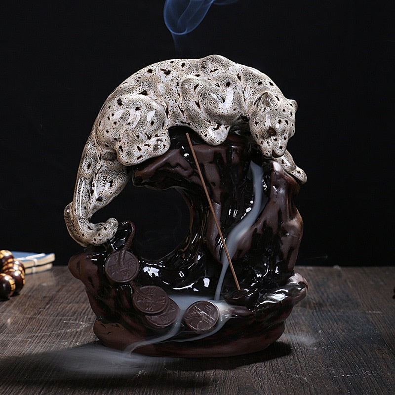 White Leopard Backflow Incense Burner - Shanghai Stock