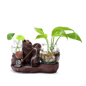 Little Boy Fishing Backflow Incense Burner - Shanghai Stock