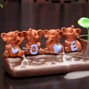 Four Little Elephants Backflow Incense Burner - Shanghai Stock