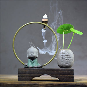 EXPRESS POST Newcastle Stock - Little Monk Arch Backflow Incense Burner
