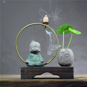 Little Monk Arch Backflow Incense Burner - Various styles - Shanghai Stock