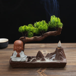 Monk & Mountain Backflow Incense Burner - Shanghai Stock