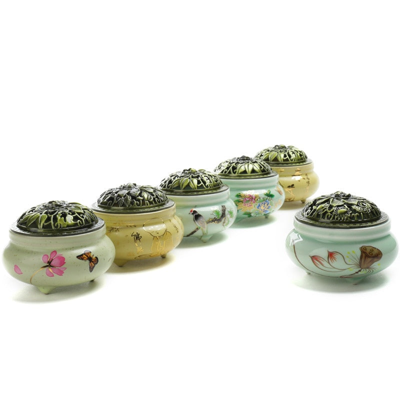 Buddhism Porcelain Incense Burner - Shanghai Stock