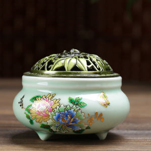 Buddhism Porcelain Incense Burner