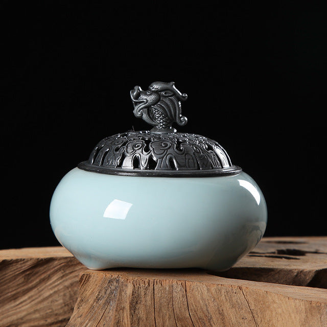 Celadon Buddhism Incense Burner