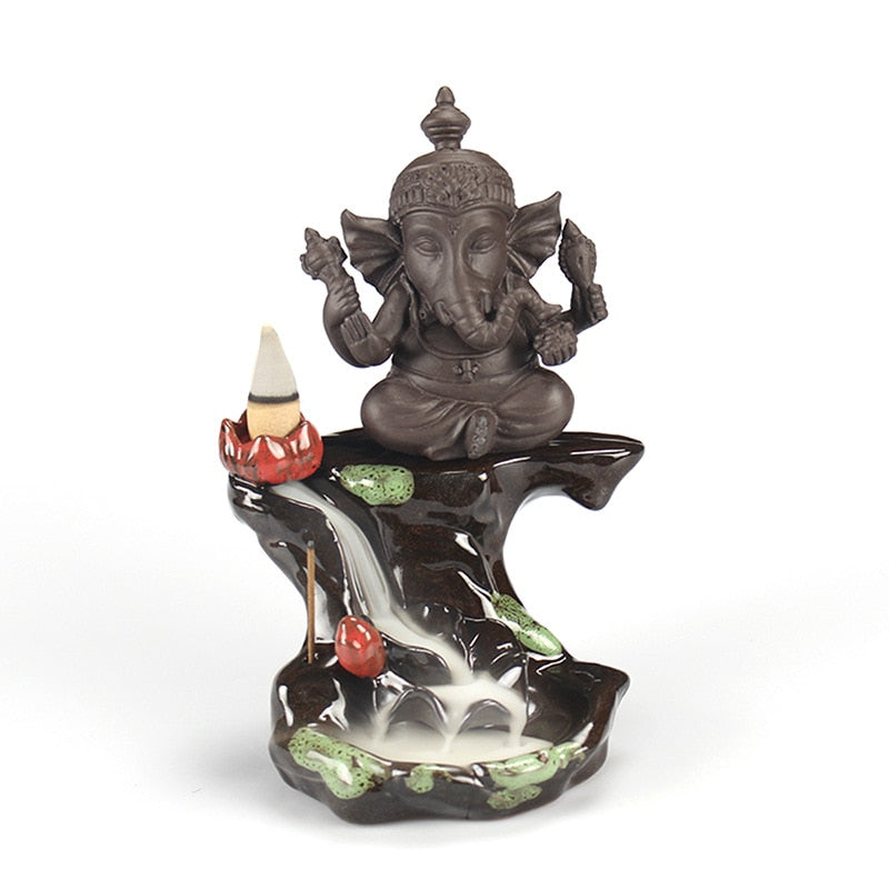 Ganesha Elephant Backflow Incense Burner - Shanghai Stock