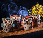 Ceramic Owl Incense Cone Burner Set of 4 - Shanghai Stock