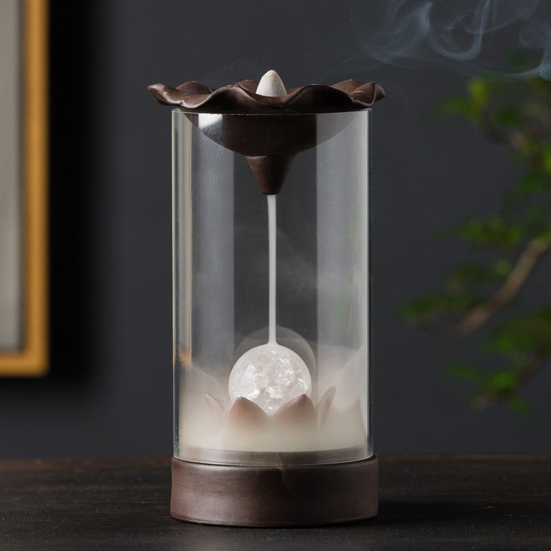 Strobe Light Ball Backflow Incense Burner